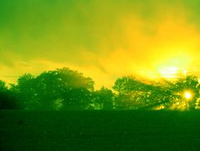 Sonne grün
